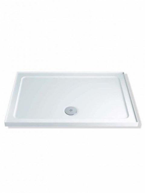 MX Durastone 1000mm x 760mm Rectangular Low Profile Shower Tray with Upstands XF7